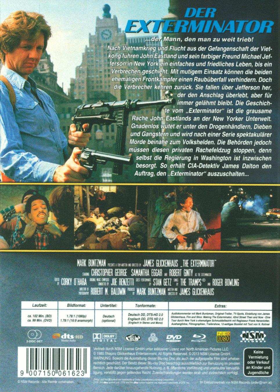 Der Exterminator 20 [LE] [DC] + DVD   Filme.de